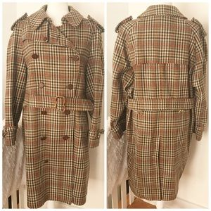 Austin Reed Vintage Wool Belted Trench Coat